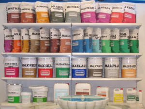 Shelf-display-drizoro-products Drizoro waterproofing coatings